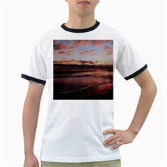 Stunning Sunset On The Beach 3 Ringer T Shirts