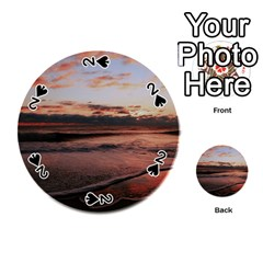 Stunning Sunset On The Beach 3 Playing Cards 54 (Round)