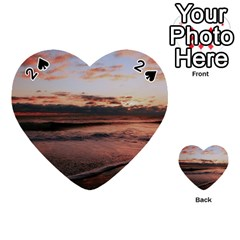 Stunning Sunset On The Beach 3 Playing Cards 54 (Heart)