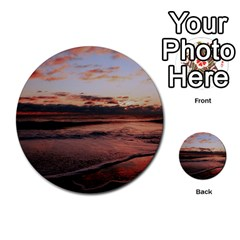 Stunning Sunset On The Beach 3 Multi Purpose Cards (round)