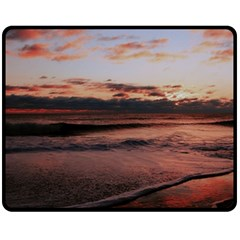 Stunning Sunset On The Beach 3 Fleece Blanket (medium)