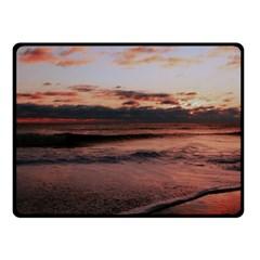Stunning Sunset On The Beach 3 Fleece Blanket (Small)