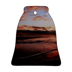 Stunning Sunset On The Beach 3 Bell Ornament (2 Sides)