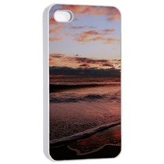Stunning Sunset On The Beach 3 Apple iPhone 4/4s Seamless Case (White)