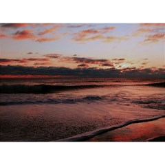 Stunning Sunset On The Beach 3 Birthday Cake 3d Greeting Card (7x5)