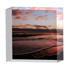 Stunning Sunset On The Beach 3 5  x 5  Acrylic Photo Blocks