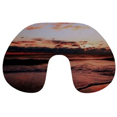 Stunning Sunset On The Beach 3 Travel Neck Pillows