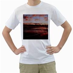 Stunning Sunset On The Beach 3 Men s T Shirt (white)