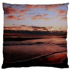 Stunning Sunset On The Beach 3 Large Flano Cushion Cases (one Side)
