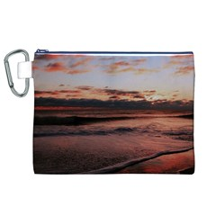 Stunning Sunset On The Beach 3 Canvas Cosmetic Bag (XL)