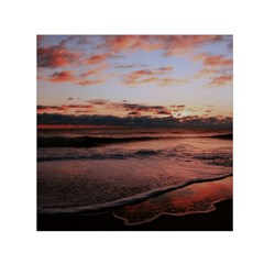 Stunning Sunset On The Beach 3 Small Satin Scarf (Square)