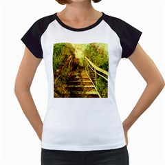 Up Stairs Women s Cap Sleeve T