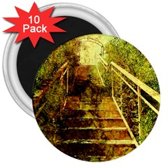 Up Stairs 3  Magnets (10 Pack)