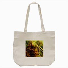 Up Stairs Tote Bag (Cream)