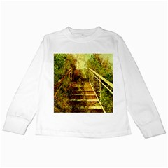 Up Stairs Kids Long Sleeve T-Shirts