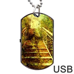 Up Stairs Dog Tag USB Flash (Two Sides)