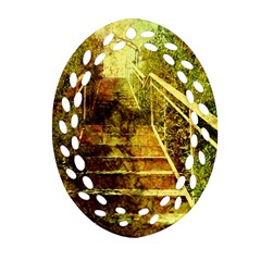 Up Stairs Ornament (Oval Filigree)