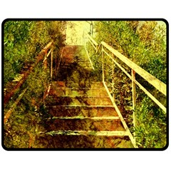 Up Stairs Double Sided Fleece Blanket (Medium)