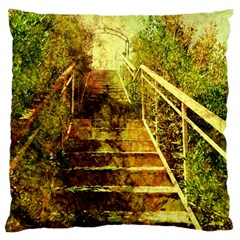 Up Stairs Large Flano Cushion Cases (two Sides)