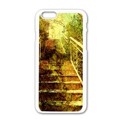 Up Stairs Apple Iphone 6 White Enamel Case