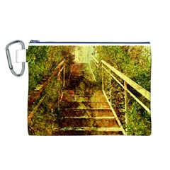 Up Stairs Canvas Cosmetic Bag (L)
