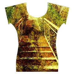 Up Stairs Women s Cap Sleeve Top