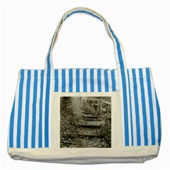 Another Way Striped Blue Tote Bag