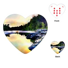 Stunning Nature Evening Playing Cards (Heart)