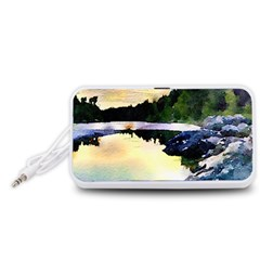 Stunning Nature Evening Portable Speaker (White)