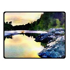 Stunning Nature Evening Double Sided Fleece Blanket (Small)