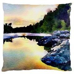 Stunning Nature Evening Large Flano Cushion Cases (two Sides)