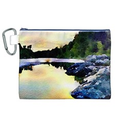 Stunning Nature Evening Canvas Cosmetic Bag (XL)