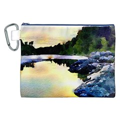 Stunning Nature Evening Canvas Cosmetic Bag (XXL)