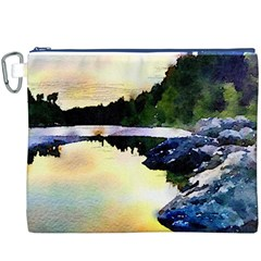 Stunning Nature Evening Canvas Cosmetic Bag (XXXL)