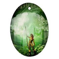 The Gate In The Magical World Ornament (oval)