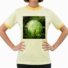 The Gate In The Magical World Women s Fitted Ringer T Shirts