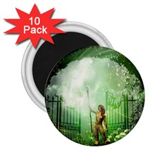 The Gate In The Magical World 2 25  Magnets (10 Pack)