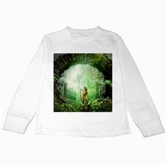 The Gate In The Magical World Kids Long Sleeve T-Shirts