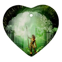 The Gate In The Magical World Heart Ornament (2 Sides)