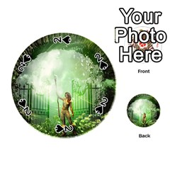 The Gate In The Magical World Playing Cards 54 (round)
