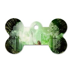 The Gate In The Magical World Dog Tag Bone (two Sides)