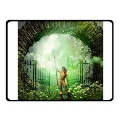 The Gate In The Magical World Fleece Blanket (small)