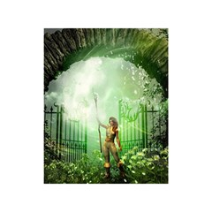 The Gate In The Magical World Shower Curtain 48  x 72  (Small)