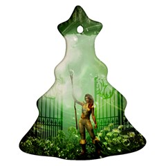 The Gate In The Magical World Christmas Tree Ornament (2 Sides)