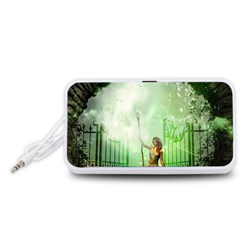 The Gate In The Magical World Portable Speaker (White)