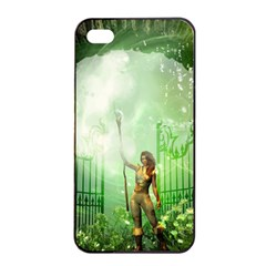 The Gate In The Magical World Apple iPhone 4/4s Seamless Case (Black)