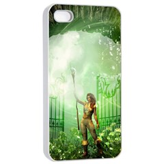 The Gate In The Magical World Apple iPhone 4/4s Seamless Case (White)