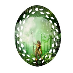 The Gate In The Magical World Ornament (oval Filigree)