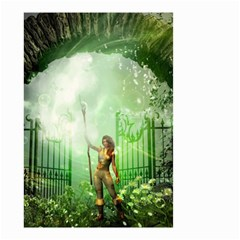 The Gate In The Magical World Small Garden Flag (two Sides)