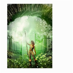 The Gate In The Magical World Large Garden Flag (two Sides)